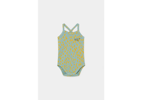 BOBO CHOSES Animal Print Sleeveless Body Frosty Green