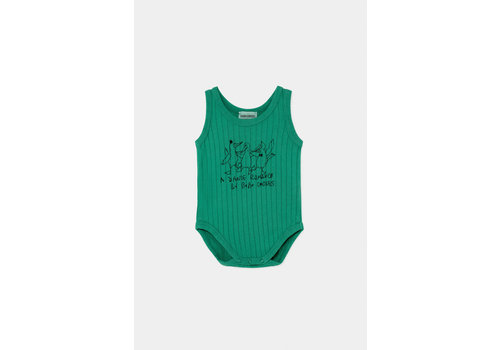 BOBO CHOSES Dancing Birds Sleeveless Body Cadmium Green