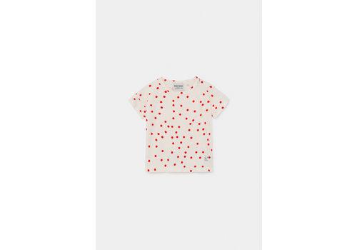 BOBO CHOSES Dots T-Shirt Turtledove