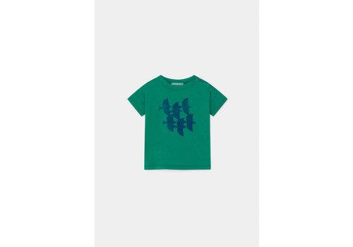 BOBO CHOSES Flying Birds T-Shirt Cadmium Green