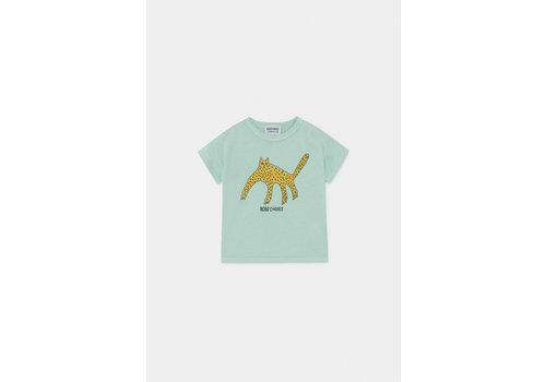 BOBO CHOSES Leopard T-Shirt Frosty Green