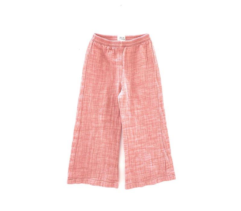 crinkle pants red