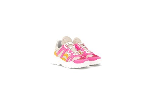 Gallucci Sneakers with neon pink details, up to mommy size