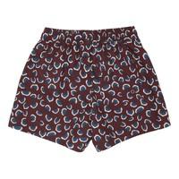 Dandy Swim Pants Russet Brown, AOP Coral