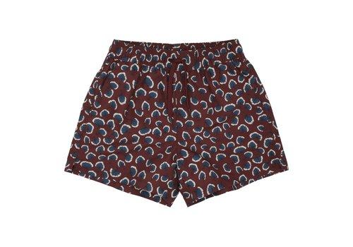Soft Gallery Dandy Swim Pants Russet Brown, AOP Coral