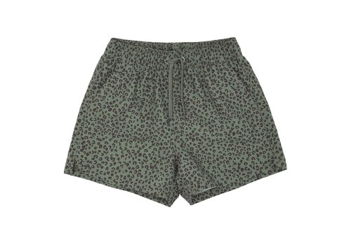 Soft Gallery Edison Swim Pants Oil Green, AOP Leospot