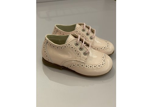 Gallucci Lace-up lacquer pink shoes