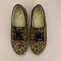 Lace-up leopard shoes, up to mommy size