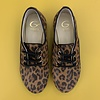 Gallucci Lace-up leopard shoes, up to mommy size