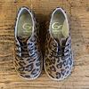 Gallucci Lage veterschoenen met leopard print