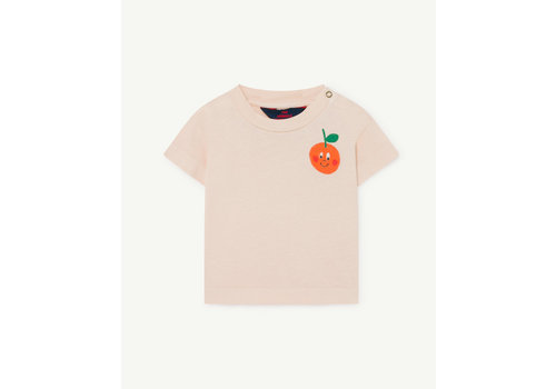The Animals Observatory Rooster Baby T-Shirt Rose Orange