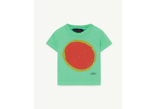 The Animals Observatory Rooster Baby T-Shirt Green Sun