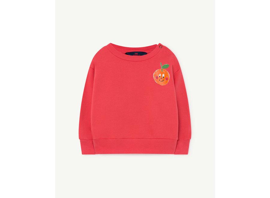 Bear Baby Sweatshirt Red Fruit