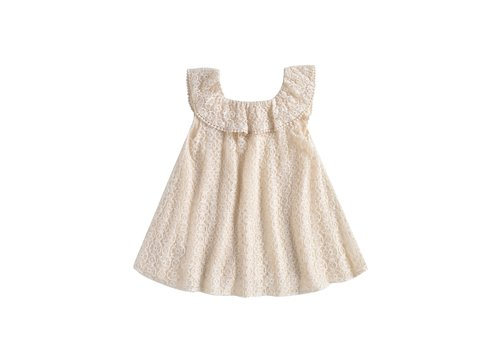 Louise Misha Dress Jonuta Cream Sparkle Lace