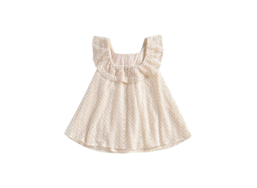 Dress Jonuta Cream Sparkle Lace