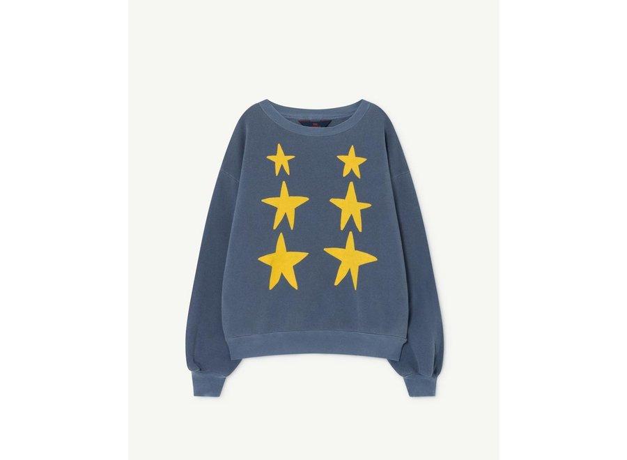 Bear Kids Sweatshirt Blue Stars