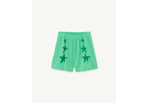 The Animals Observatory Poodle Kids Shorts Green Stars