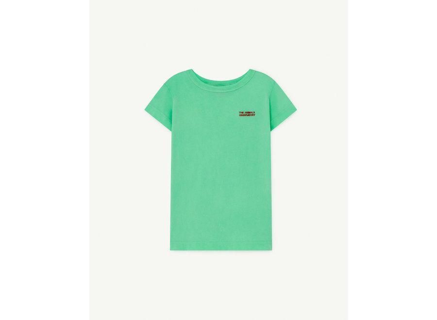 Hippo Kids T-Shirt Green The Animals