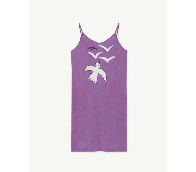 Gazel Kids Dress Violet Birds