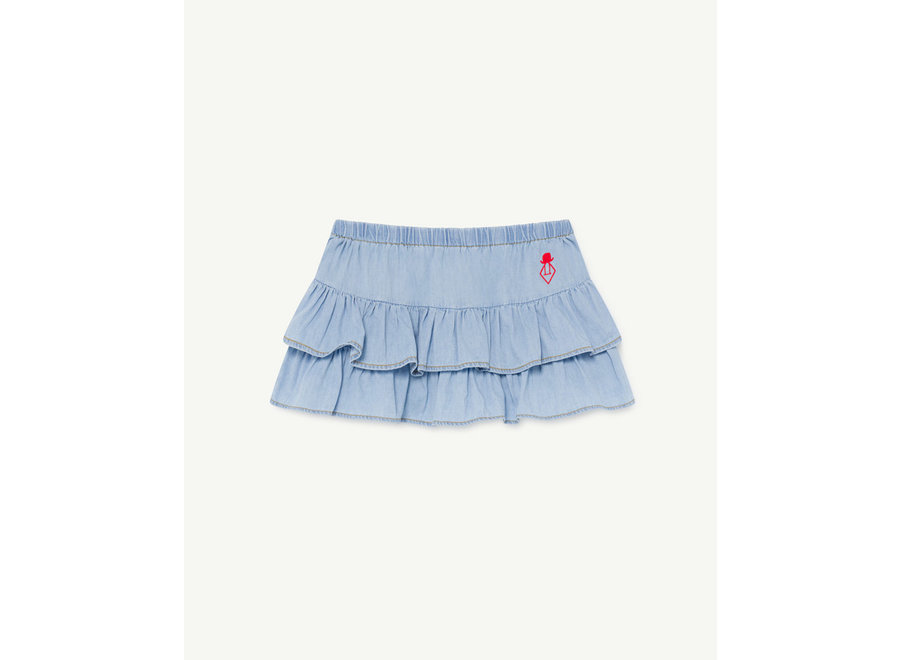 Denim Kiwi Kids Skirt Indigo