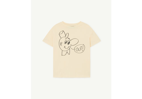 The Animals Observatory Rooster Kids T-Shirt Yellow Oui