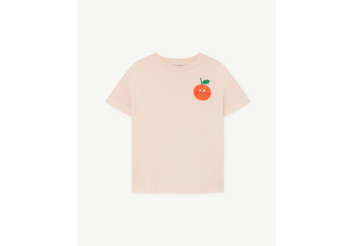 The Animals Observatory Rooster Kids T-Shirt Rose Orange
