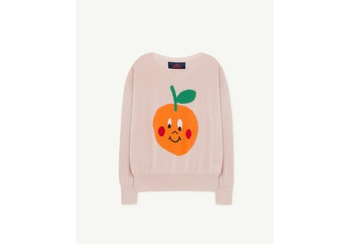 The Animals Observatory Fruit Bull Kids Sweater Soft Pink
