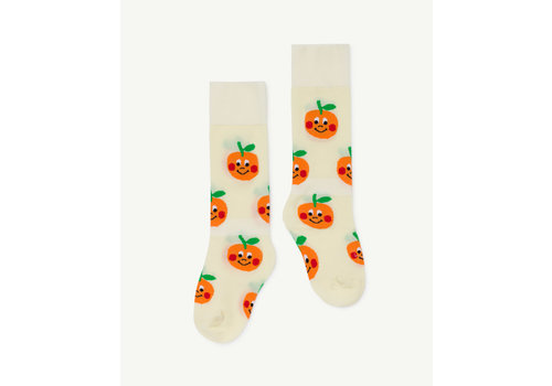 The Animals Observatory Hen Kids Socks Raw White
