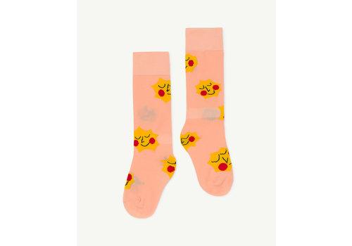 The Animals Observatory Hen Kids Socks Soft Pink
