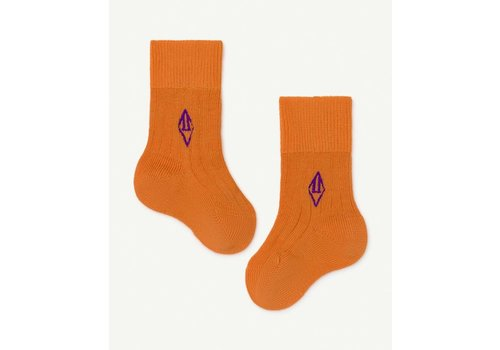 The Animals Observatory Skunk Baby Socks Orange Logo