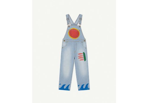 The Animals Observatory Stripes Mule Kids Dungaree Indigo Sun