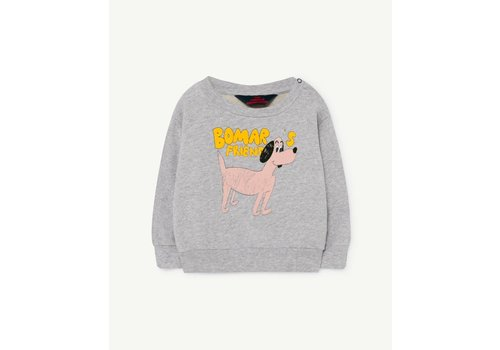 The Animals Observatory Bear Baby Sweatshirt Grey Dog 6M