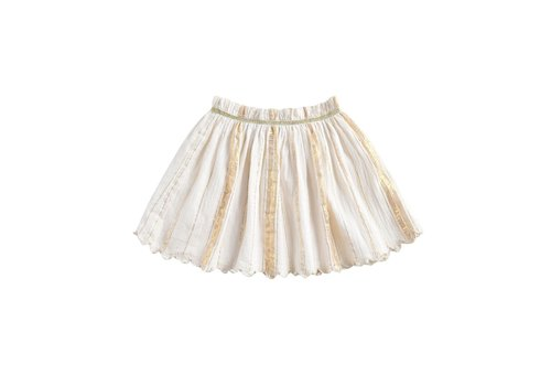 Louise Misha Skirt Salina White & Gold Stripes