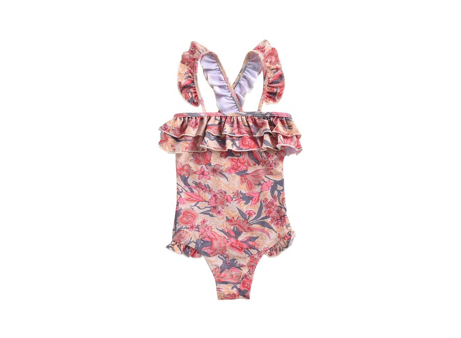 Bathing Suit Zacatecas Pink Flowers