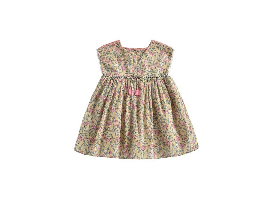 Dress Tapalpa Lemon Flowers