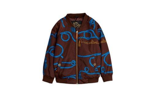 Mini Rodini Rope baseball jacket Brown