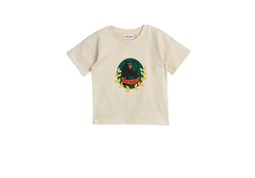 Mini Rodini Panther badge ss tee Offwhite