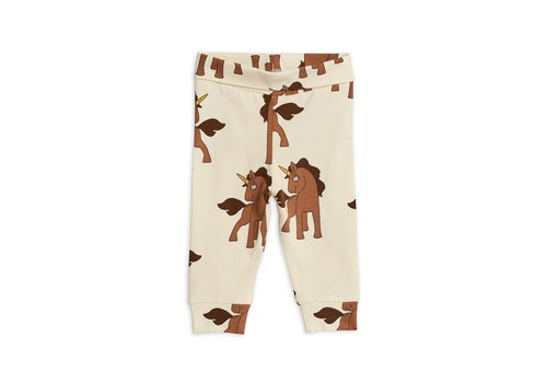 Mini Rodini Unicorns aop nb leggings Offwhite