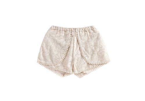 Louise Misha Shorts Velinda Cream Baroque Lace