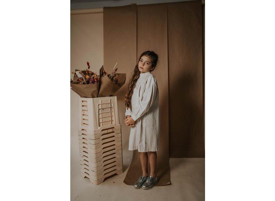 Doll dress milky sand