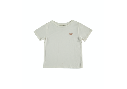 The New Society LOGO_T-SHIRT OFF WHITE