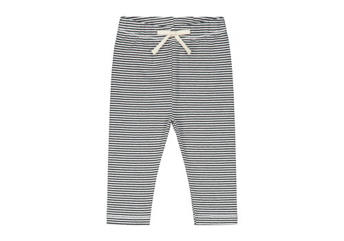 Gray Label Baby Leggings  Nearly Black/Cream Stripe