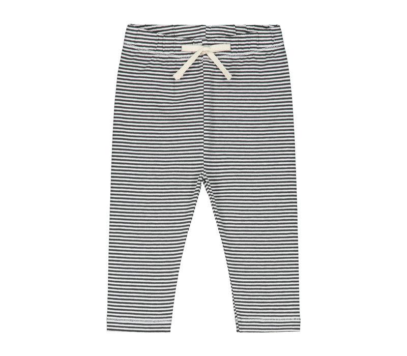 Baby Leggings  Nearly Black/Cream Stripe