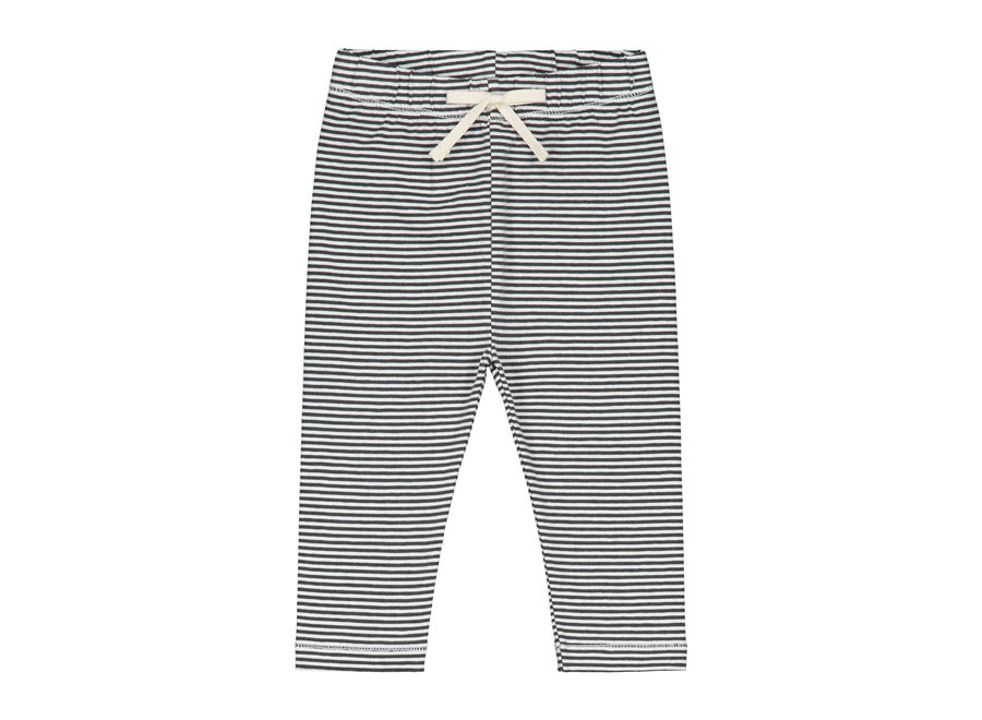 Baby Leggings  Nearly Black/Cream Stripe
