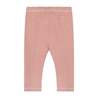 Baby Leggings  Faded Red/Cream Stripe