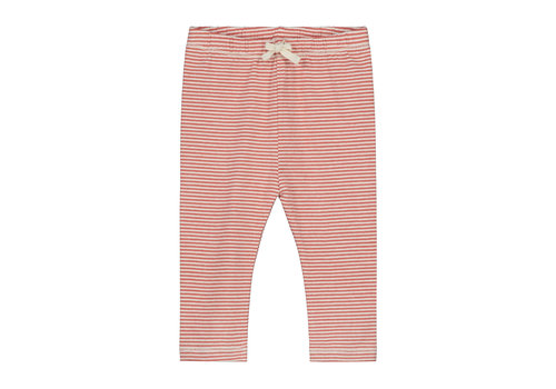 Gray Label Baby Leggings  Faded Red/Cream Stripe