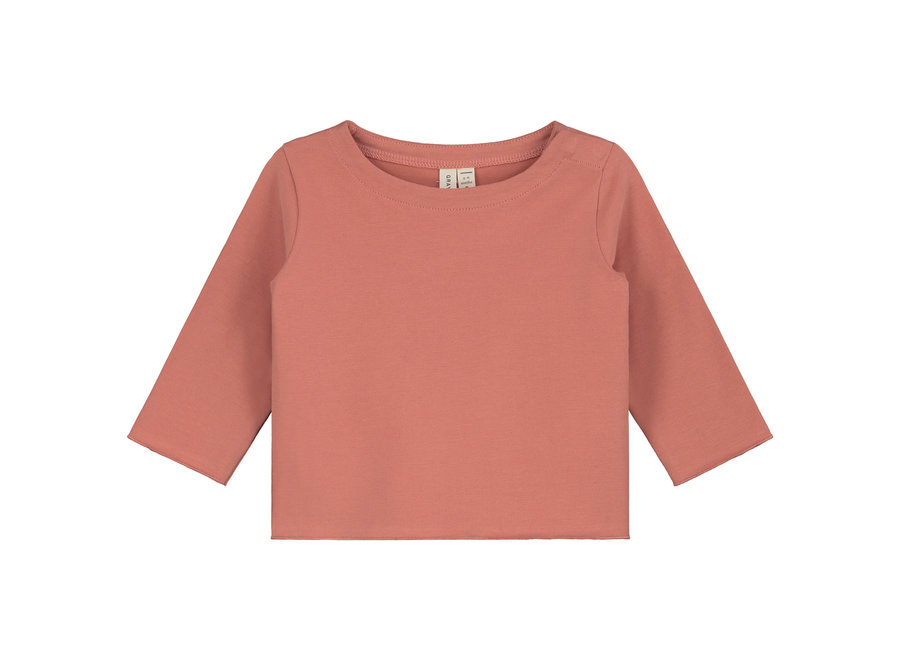 Baby L/S Tee  Faded Red