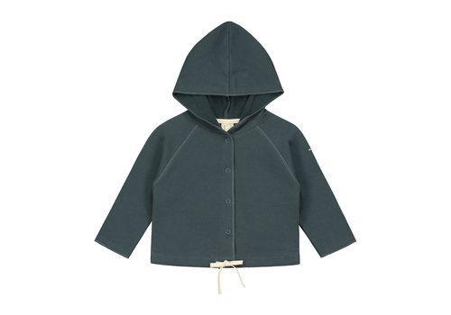 Gray Label Baby Hooded Cardigan  Blue Grey