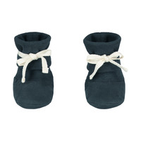 Baby Ribbed Booties  Blue Grey