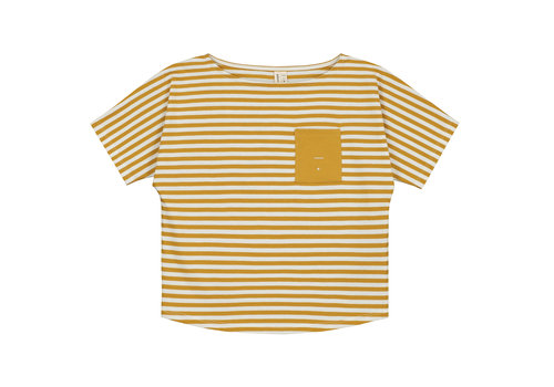 Gray Label Pocket Tee  Mustard/Off White Stripe